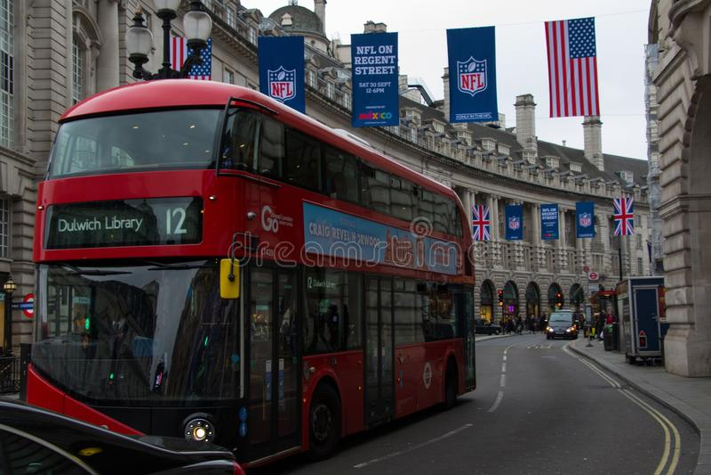 Bus Londen stock foto