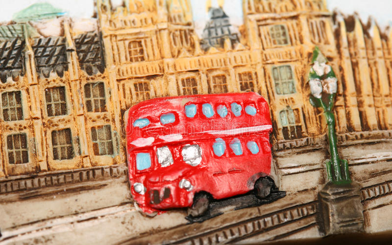 bus london red royaltyfri bild
