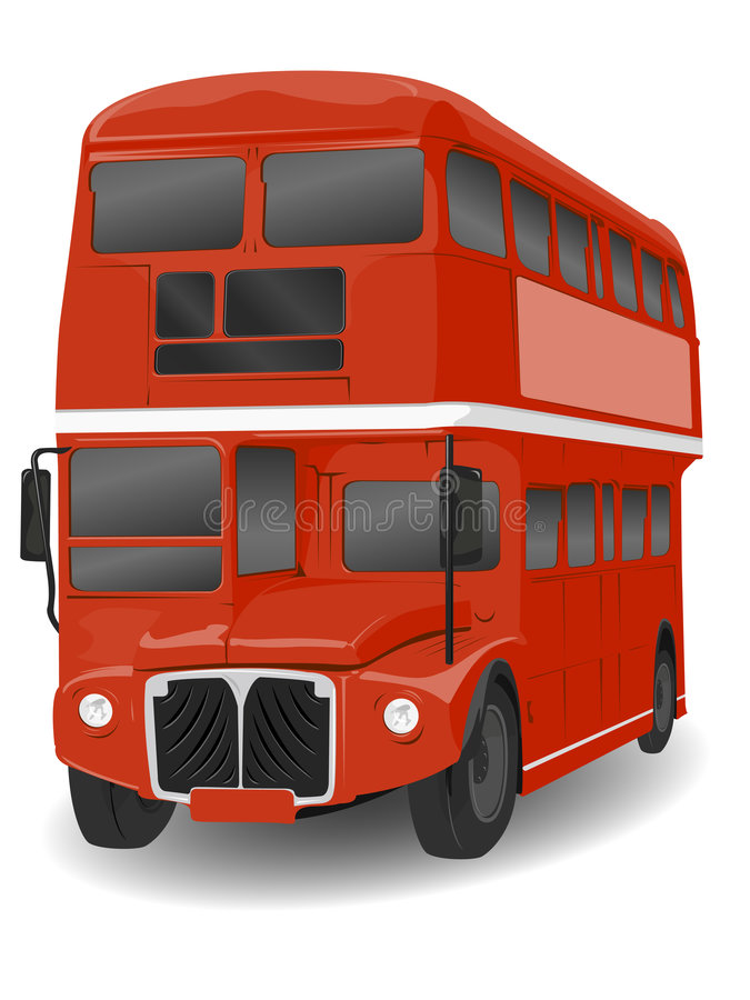 bus london redroutemaster stock illustrationer