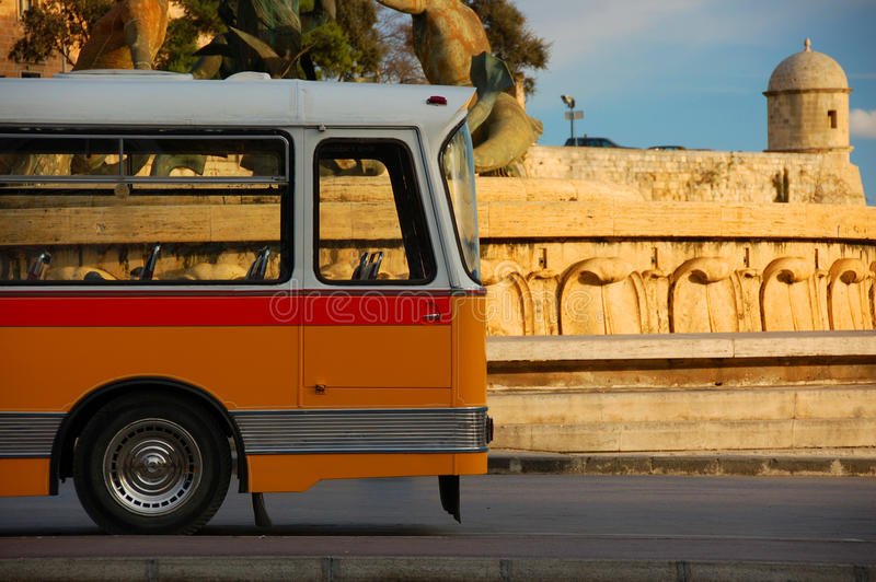 Bus in Malta royalty free stock photo