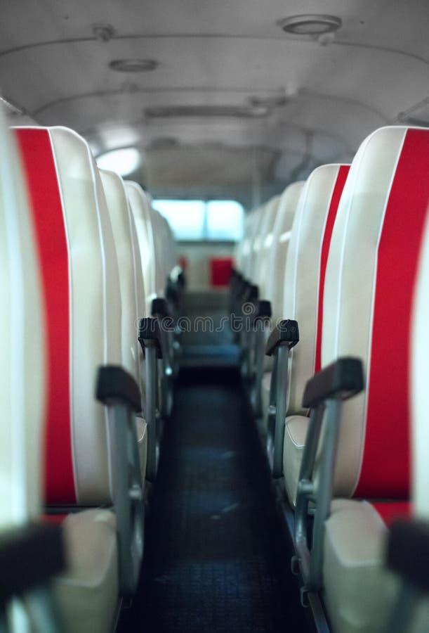 Bus met zetels royalty-vrije stock afbeeldingen