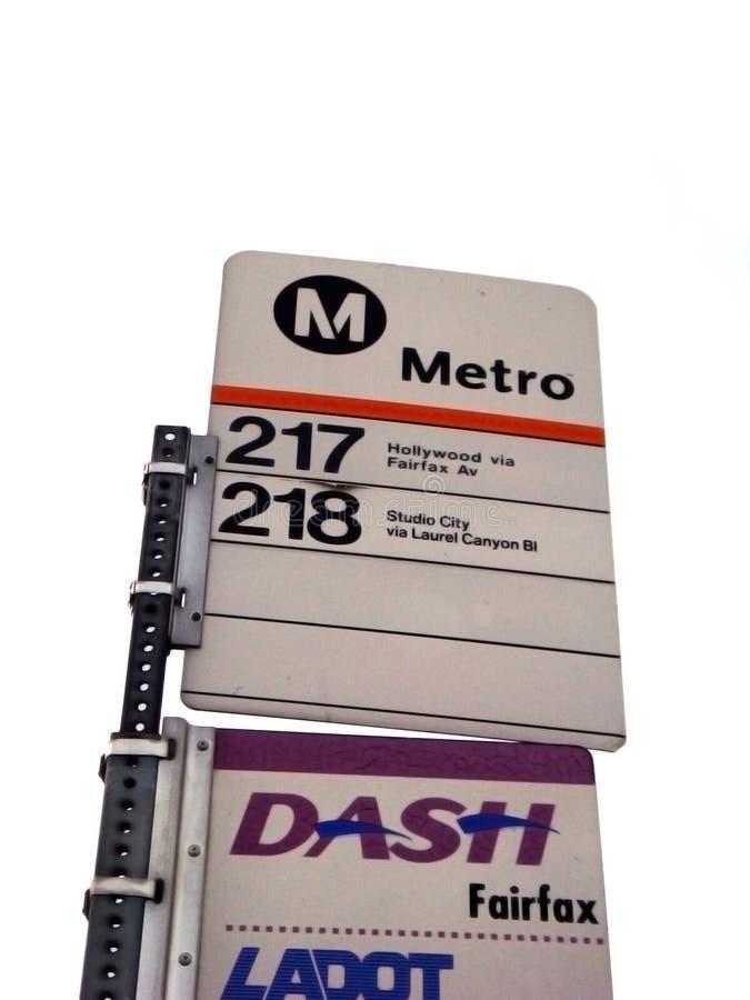 Bus metro in California royalty free stock photography