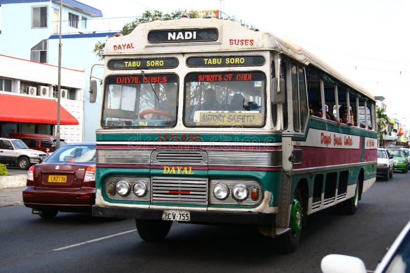 Bus in Nadi, Fiji fotografia stock