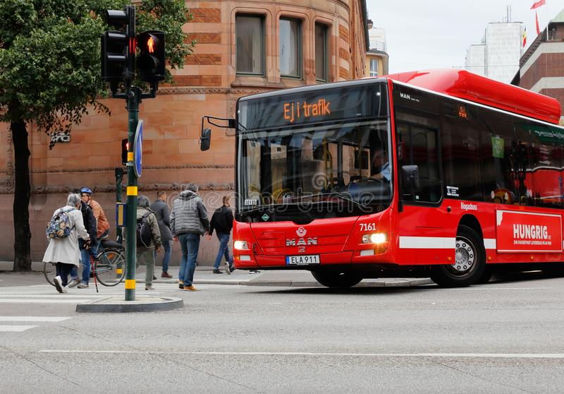 Bus nicht im Einsatz stockbild