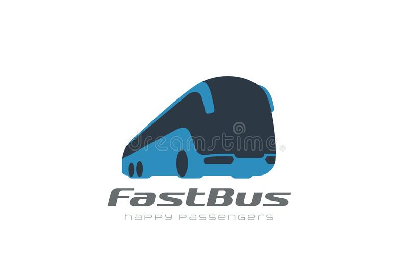 Bus passengers transportation vehicle Logo vector. stock illustration