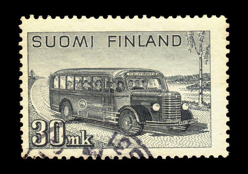 Bus postale interurbano, Finlandia immagine stock