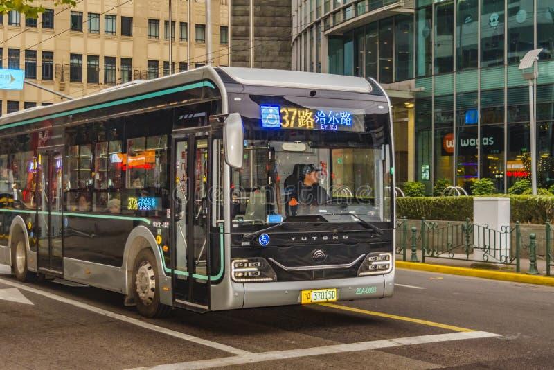 Bus pubblico, Pudong, Shanghai immagini stock