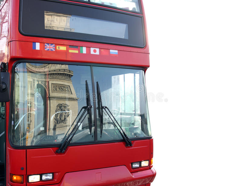Download Bus With Reflection Of Arc Triumph, Paris, France Stock Image - Image: 12442711