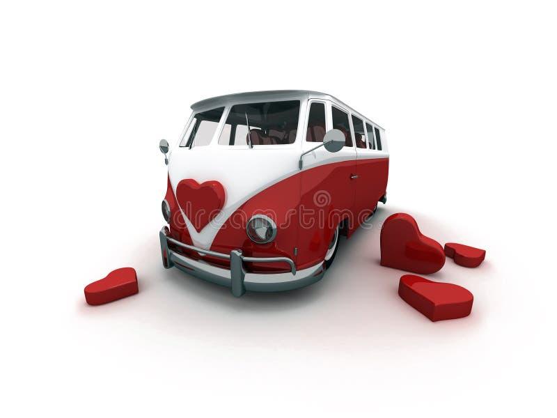 Bus rosso illustrazione di stock