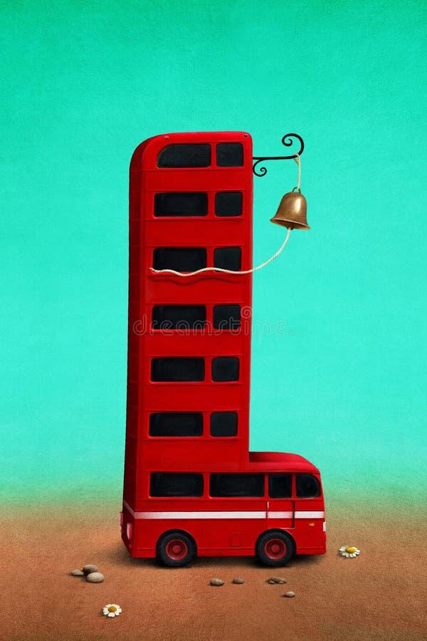Bus rosso illustrazione vettoriale