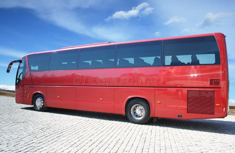 Bus rosso immagini stock