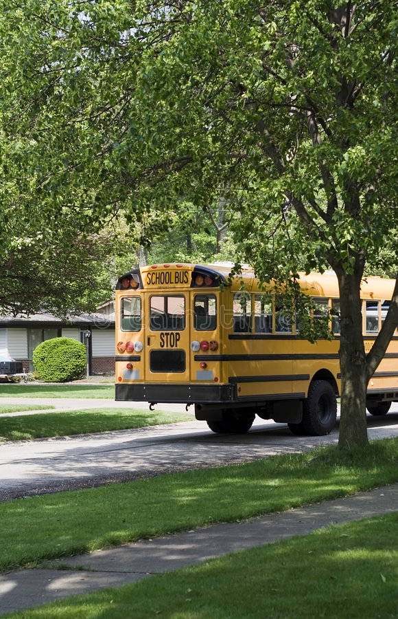 bus route school στοκ εικόνα με δικαίωμα ελεύθερης χρήσης