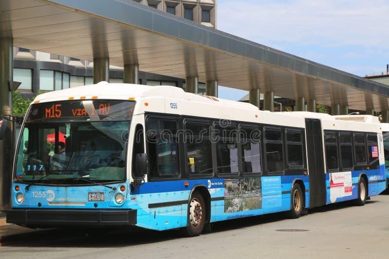 Bus scelto del MTA di New York immagine stock libera da diritti