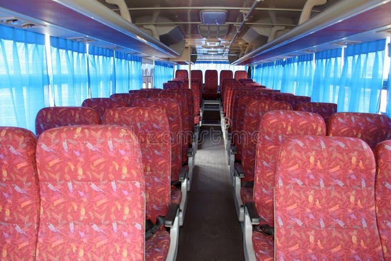 Bus seats stock photos