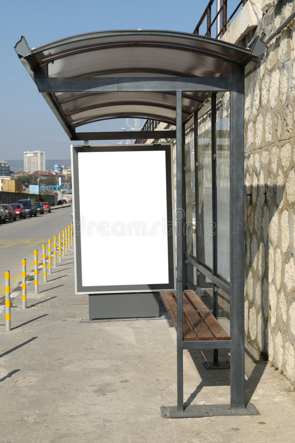 Bus shelter royalty free stock images