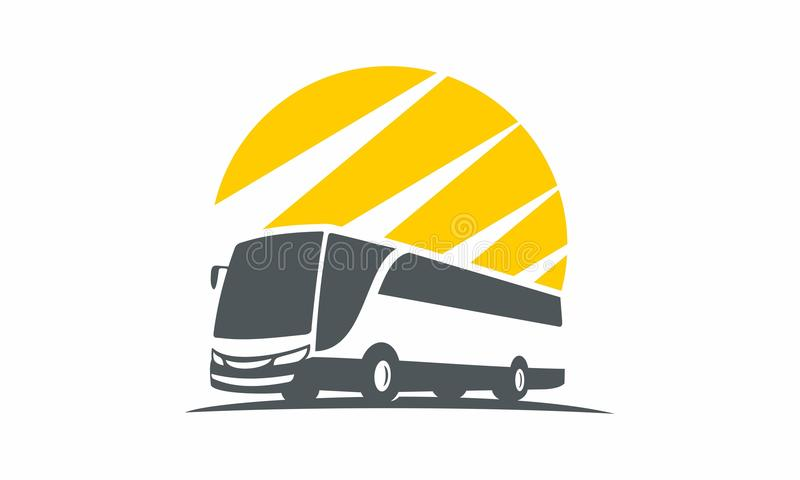 bus silhouette logo unique stock illustration