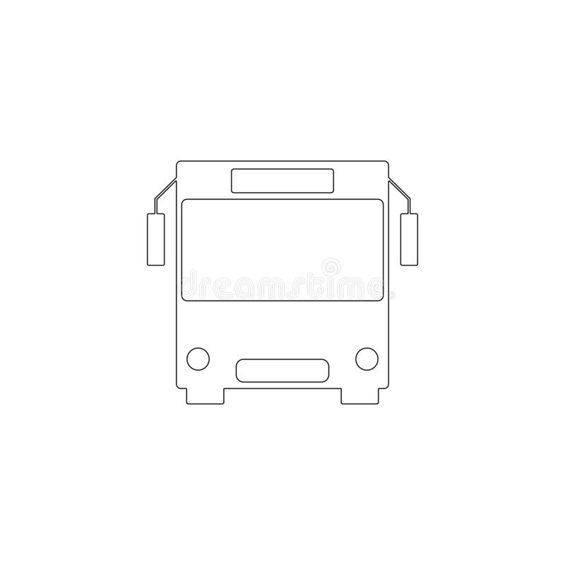 Bus. flat vector icon vector illustration