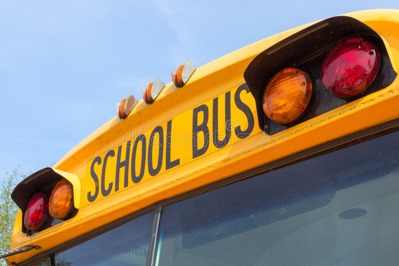 bus skolan arkivfoto