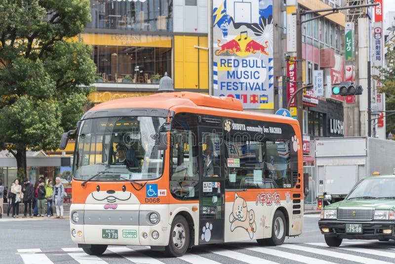 Bus for disabled Shibuya Tokyo stock image