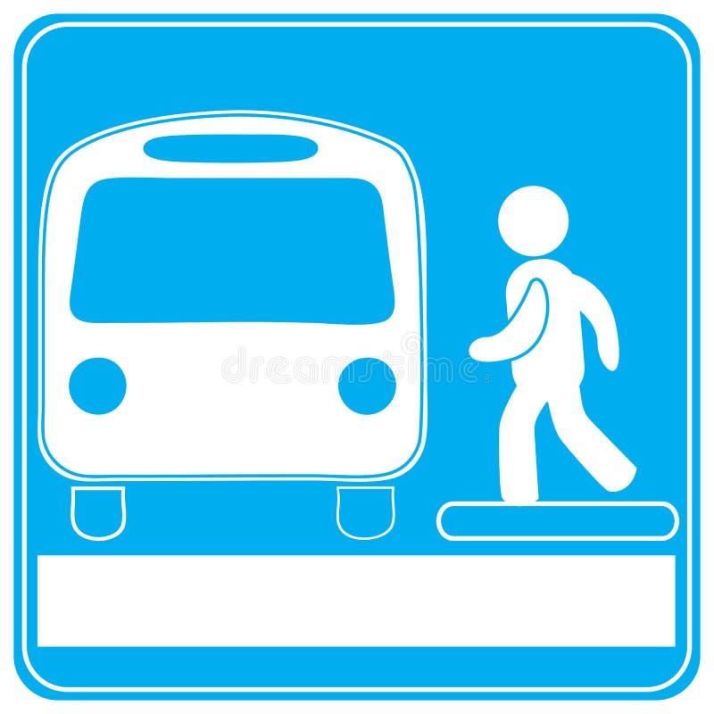 Bus station royalty free illustration
