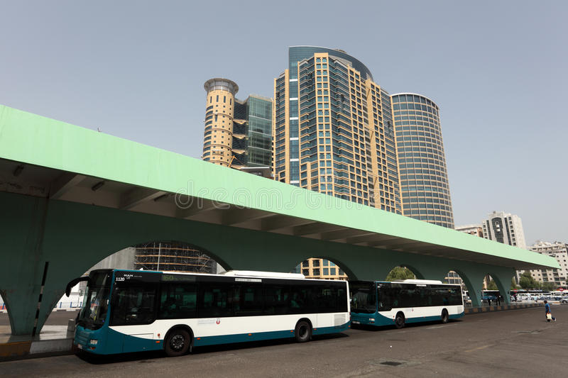 Download Bus station in Abu Dhabi editorial photography. Image of coach - 20743172