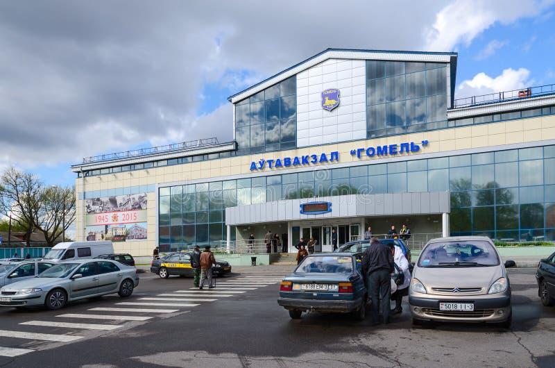 Bus station Gomel, Belarus stock images