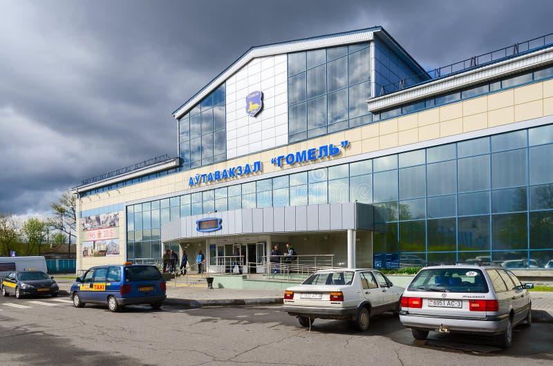 Bus station Gomel, Belarus royalty free stock photo