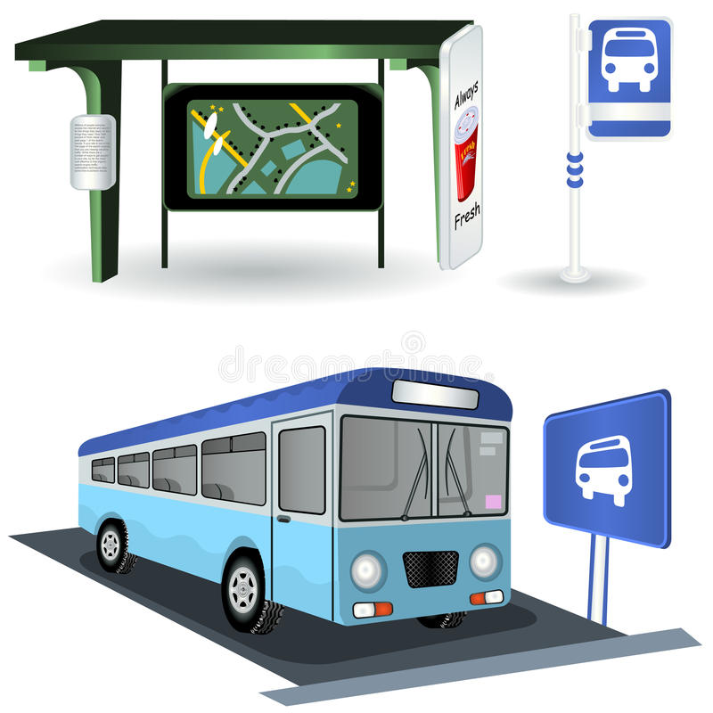 Download Bus station images stock vector. Image of layover, drop - 21182977