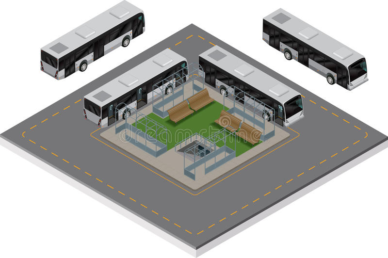 Download Bus Station Isometric Royalty Free Stock Photos - Image: 28290038