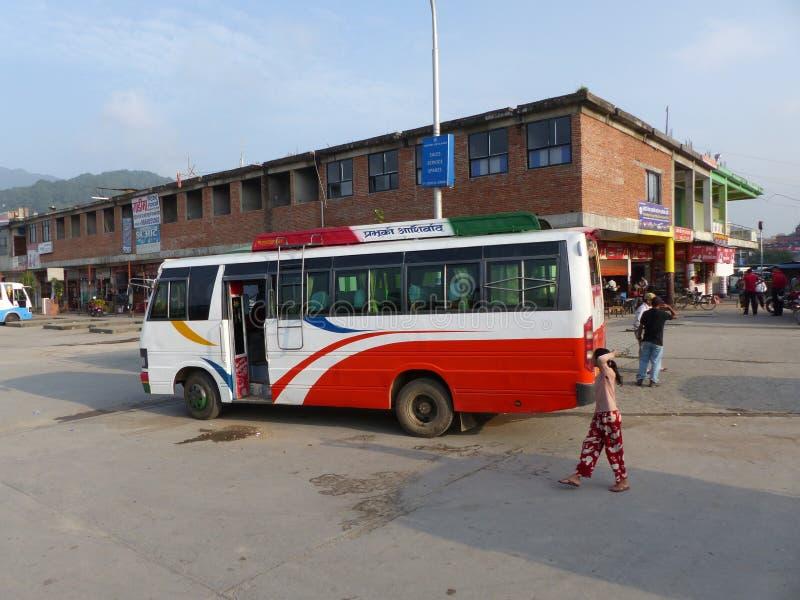Bus station in Kathmandu stock photos