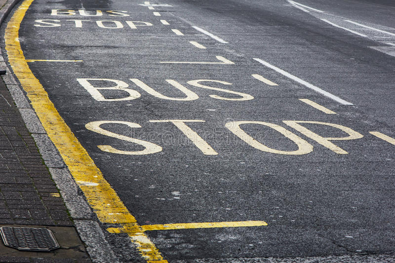 """""""Bus stop† znak zdjęcie stock"""