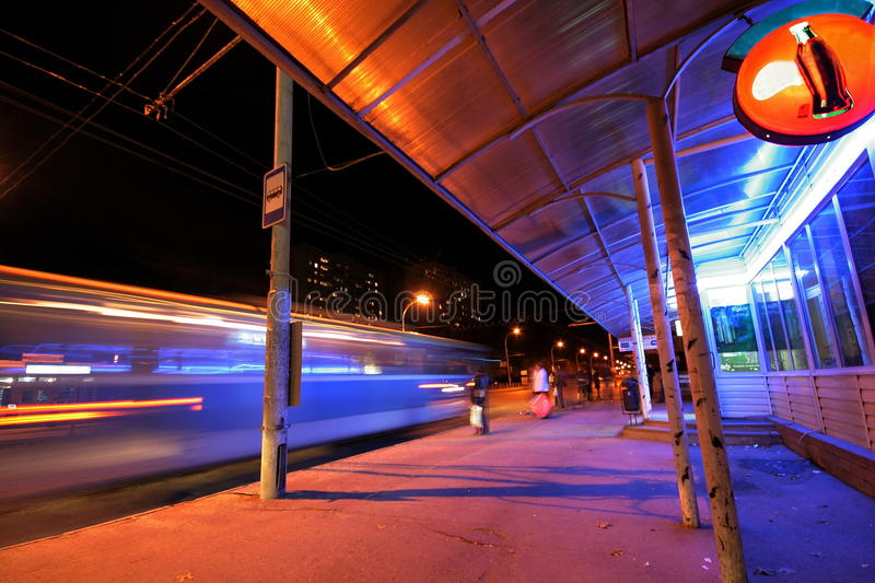 Download Bus stop stock image. Image of city, transport, stop - 14145081