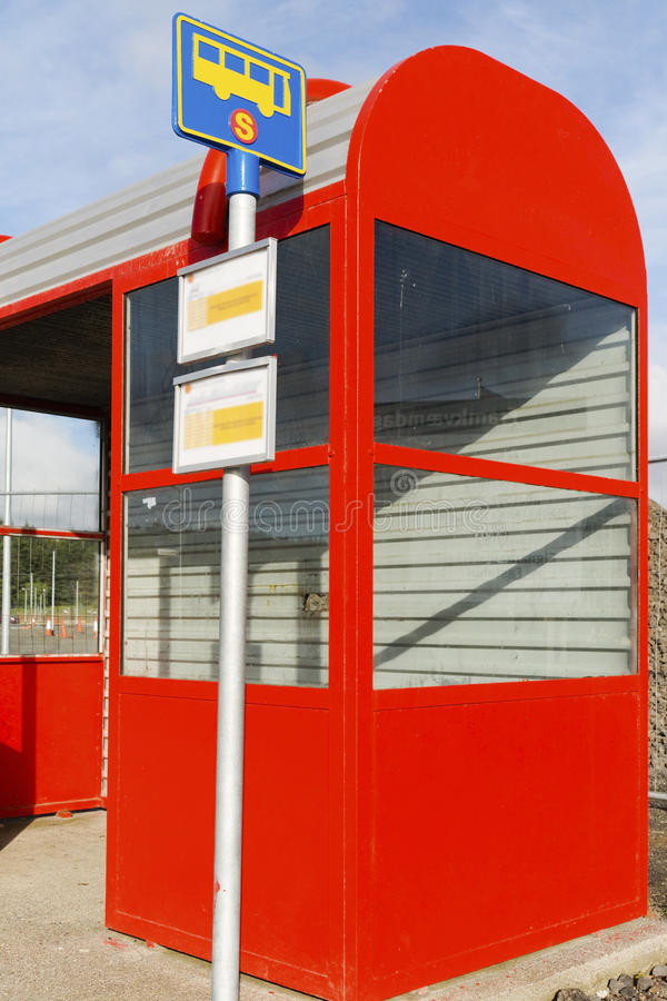 Bus Stop. A bus stop in Iceland royalty free stock photos