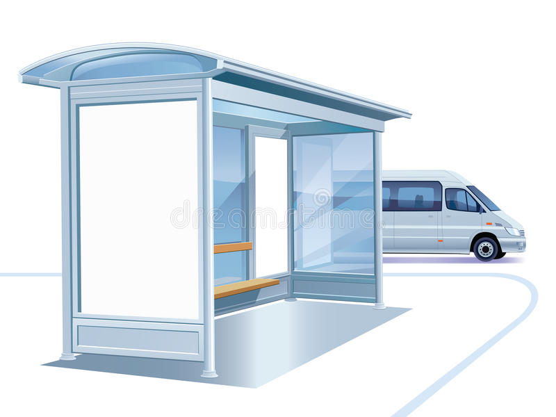 Bus stop royalty free illustration