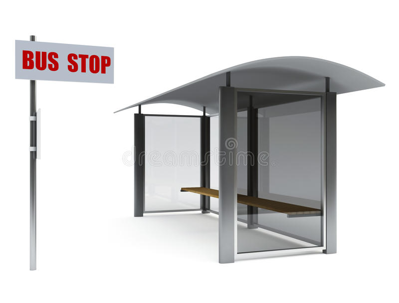 Download Bus stop stock illustration. Illustration of poster, message - 17410893