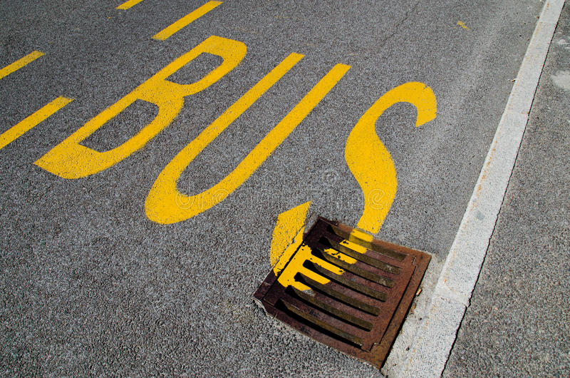 Bus Stop Royalty Free Stock Photography