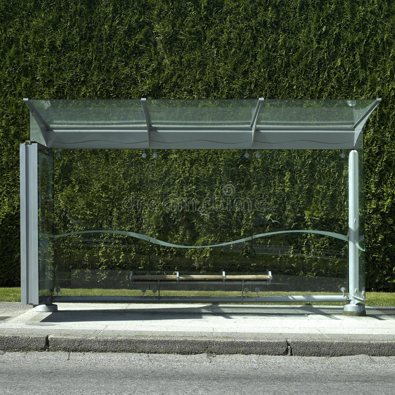 Download Bus stop stock image. Image of lines, bush, glass, city - 29037989