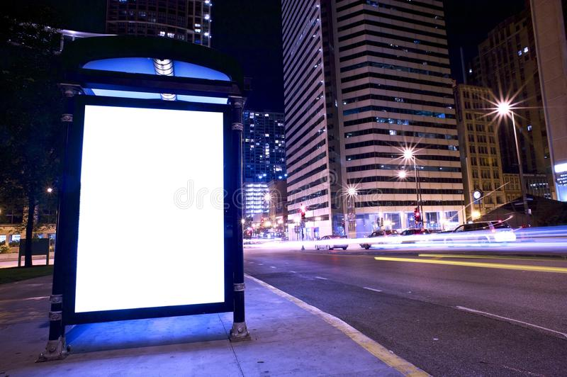 Bus Stop Ad Display stock images