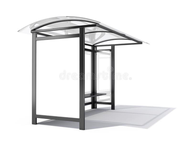 Bus stop billboard. 3d render