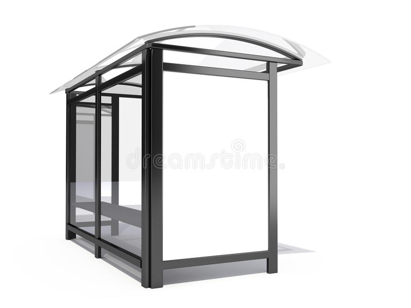 Download Bus stop billboard stock illustration. Image of isolated - 12828674