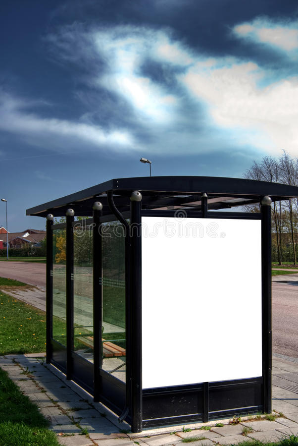 Bus stop HDR 08 royalty free stock photography
