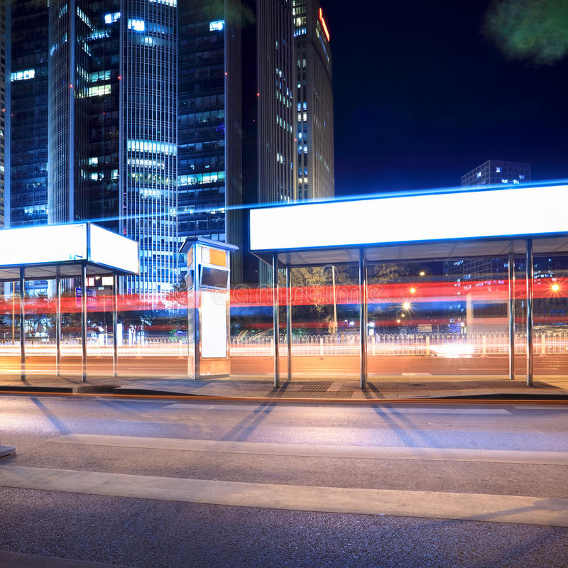 Download Bus Stop At Night Stock Images - Image: 23678894