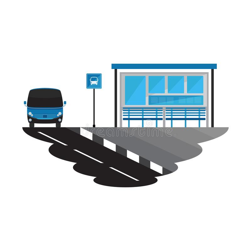 Bus Stop Road and Transport Landscape stock images