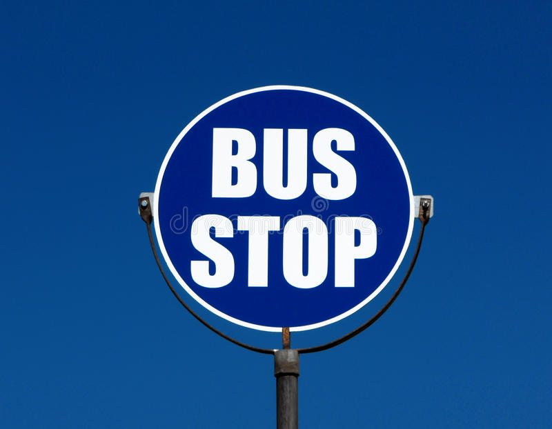Download Bus stop sign stock image. Image of europe, mediterraneo - 9530665