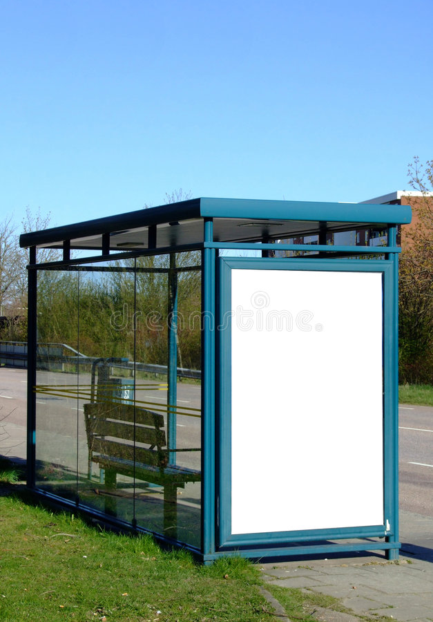 Free Bus Stop With Blank Bilboard Stock Photos - 5070323