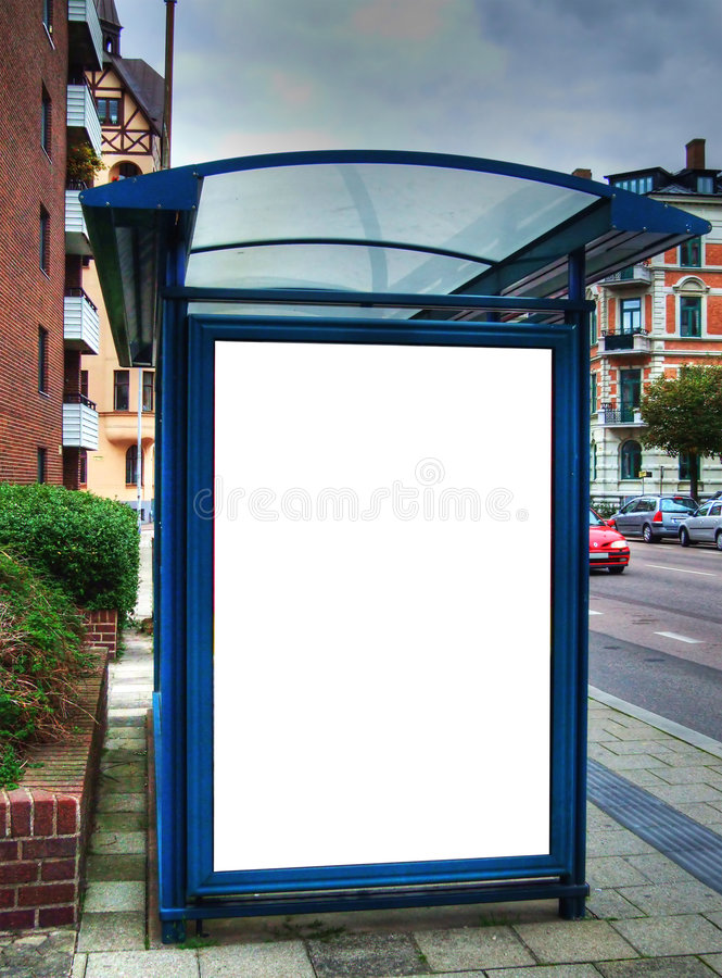 Free Bus Stop With Blank Bilboard HDR 02 Royalty Free Stock Photo - 6521855