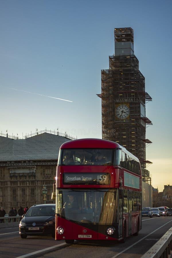 Bus at street of London royalty free stock image