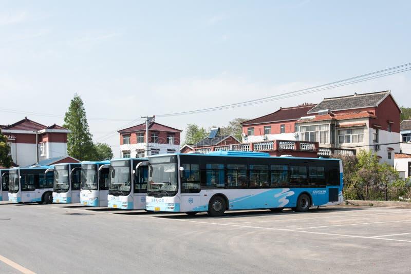 Bus terminus stock photos