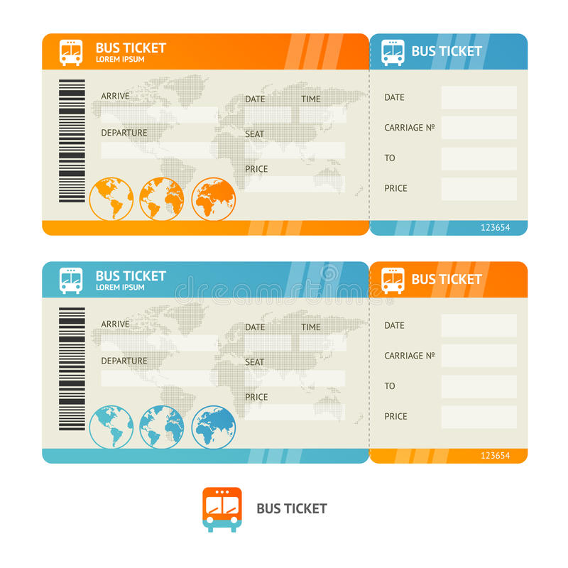 Amazing Download Bus Ticket. Vector Stock Vector. Illustration Of Park   58389012 Inside Bus Ticket Template