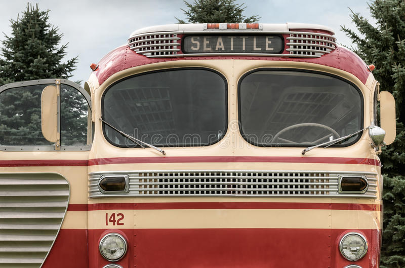 Download Bus  142 to Seattle stock image. Image of horizontal - 87609435